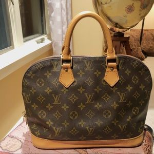 Louis Vuitton Alma Bag Purse Painted LV Monogram